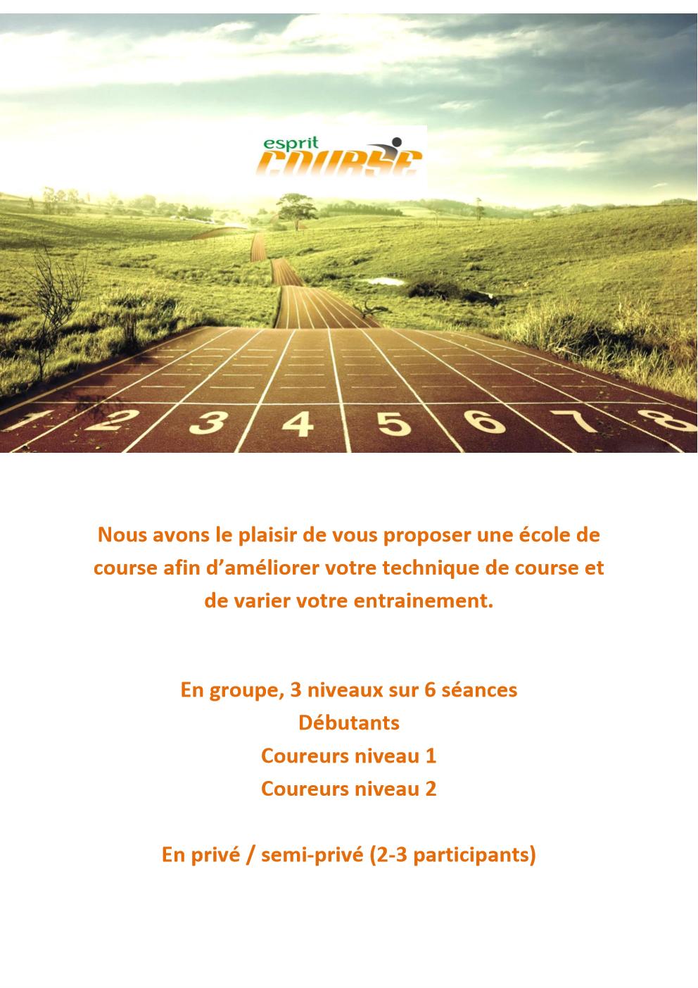 flyer esprit course